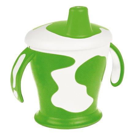 Чашка-непроливайка Canpol Babies с ручками CB Little cow 9+250мл Зеленый