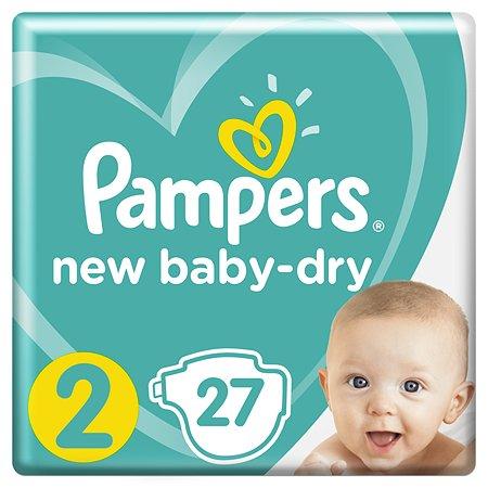 Подгузники Pampers New Baby-Dry 2 4-8кг 27шт