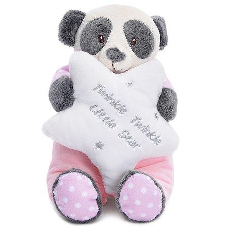 Мягкая игрушка Девилон Панда Юкки 21 см Розовая