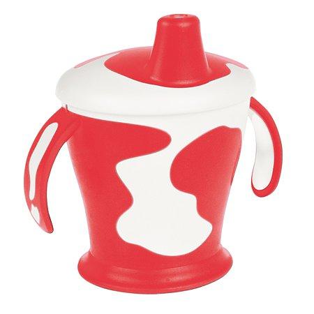 Чашка-непроливайка Canpol Babies с ручками CB Little cow 9+250мл Красный