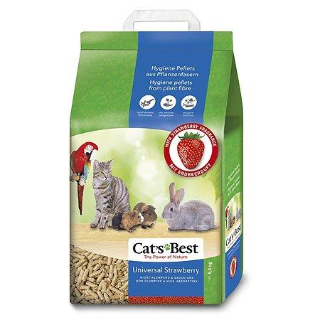 Наполнитель для кошек Cats Best Universal древесный впитывающий с ароматом клубники 5.5 кг