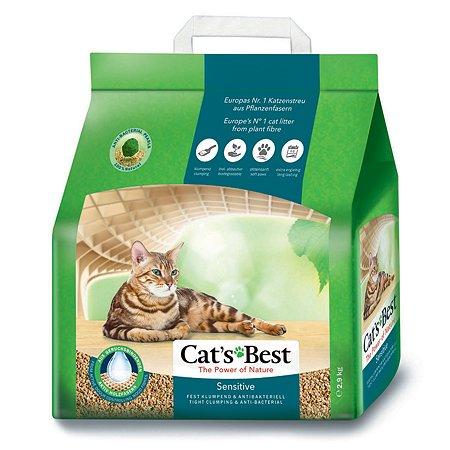 Наполнитель для кошек Cats Best Sensetive древесный комкующийся 2.9 кг