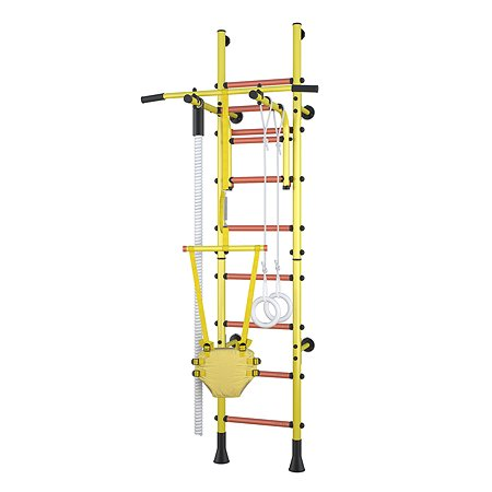 Детский спортивный комплекс Polini kids Sport Turbo пристенный Желтый