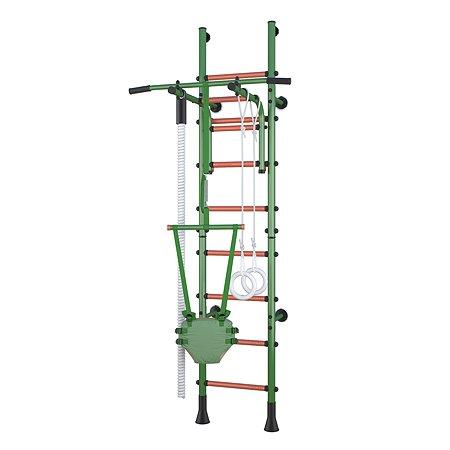 Детский спортивный комплекс Polini kids Sport Turbo пристенный Зеленый
