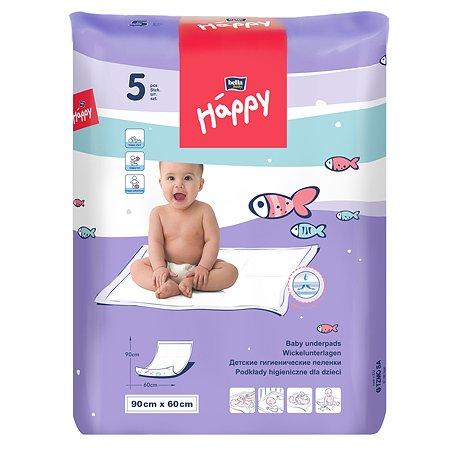 Пеленки Bella baby Happy 60*90см 5шт