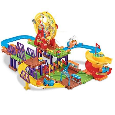 Железнодорожный набор Devik Toys поезд в комплекте(свет-звук)