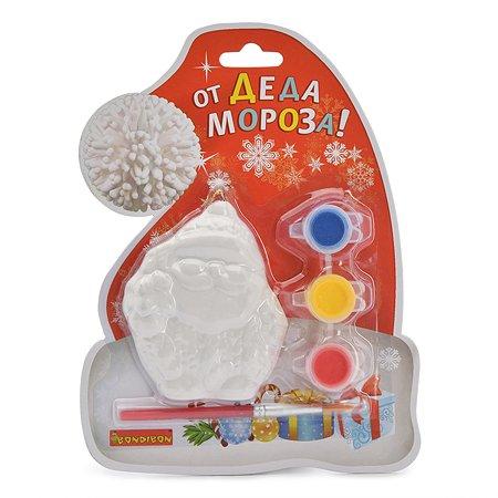 Набор для творчества Bondibon Елочные украшения Дед Мороз на карте Шапка Деда Мороза ВВ1599