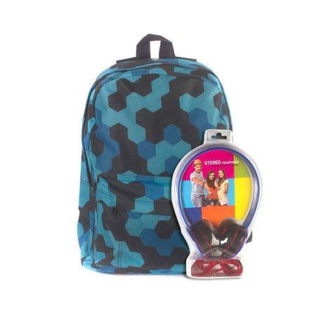 Рюкзак с наушниками 3D-Bags Мозаика (синий)