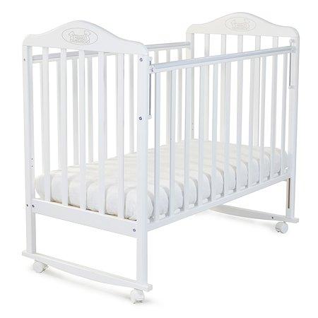 Кровать Наша Мама Джулия с колесами и качанием  цв.белый