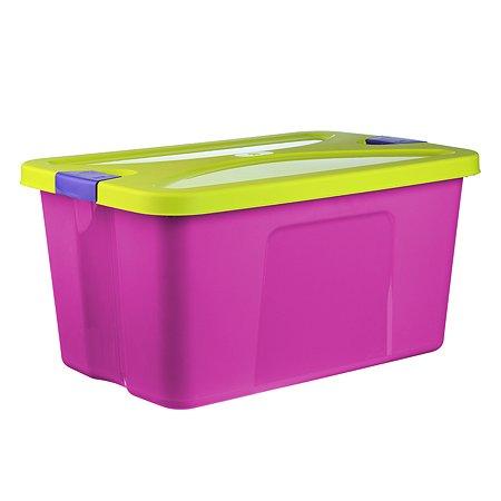 Ящик для игрушек IDEA СЕКРЕТ 45л 30*40*60 малин