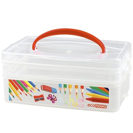 Коробка универсальная Эконова с ручкой 2 секции ART BOX
