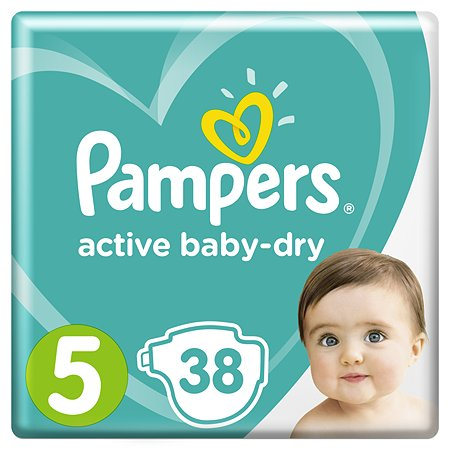 Подгузники Pampers Active Baby-Dry 5 11-16кг 38шт