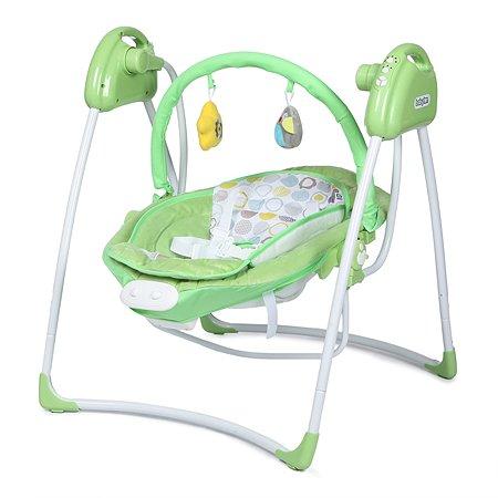 Качели Babyton 2в1 электронные Green SW108