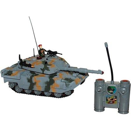 Танк р/у для танкового боя Global Bros серый со светом и звуком на аккумуляторах