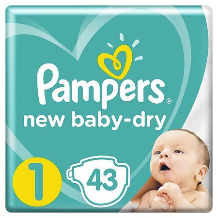 Подгузники Pampers New Baby-Dry 1 2-5кг 43шт