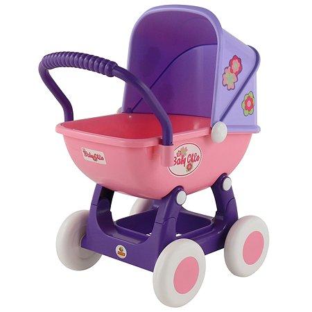 Коляска для кукол Полесье Arina Розовая-Фиолетовая 48202