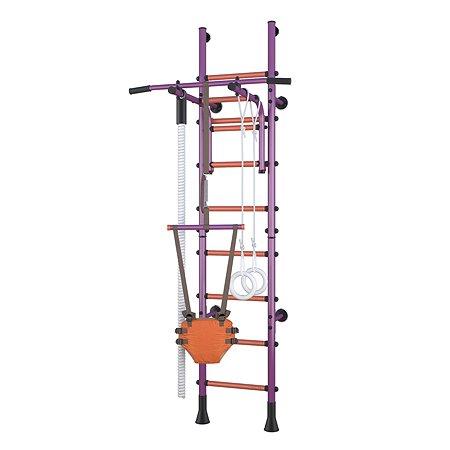 Детский спортивный комплекс Polini kids Sport Turbo пристенный Фиолетовый