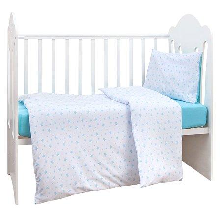 Комплект постельного белья MIRAROSSI Ninna Nanna Stellina Mio 3предмета Blue