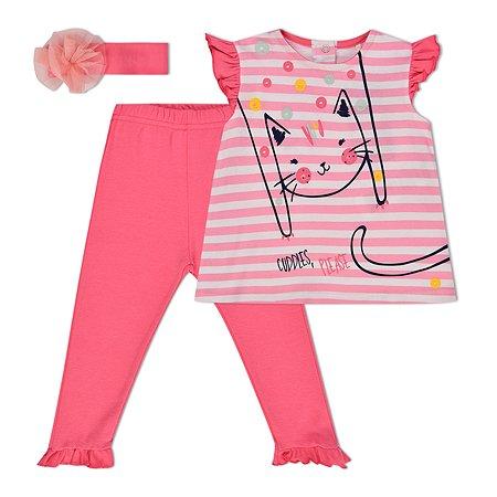 Комплект BabyGo футболка+легинсы+повязка