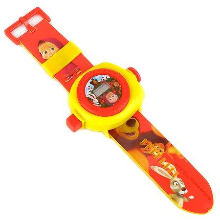 Игрушка часы УМка Маша и медведь с проекцией