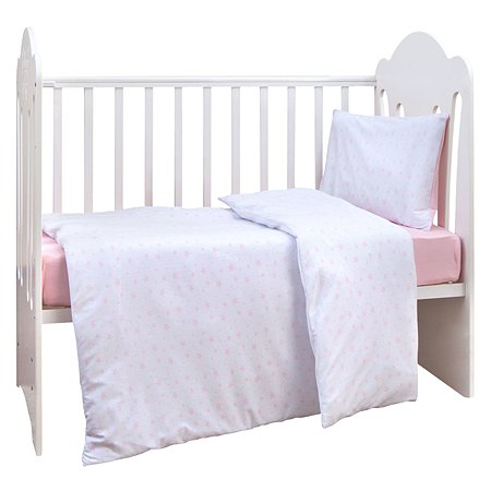 Комплект постельного белья MIRAROSSI Ninna Nanna Stellina Mio 3предмета Pink