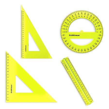 Набор геометрический Erich Krause Neon большой 49574