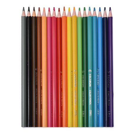 Карандаши Deli трехгранные 18цветов 410862