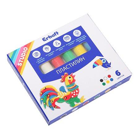Пластилин Erhaft Studio 6цветов 83811905