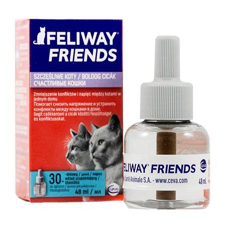 Феромоны для кошек Feliway Friends для коррекции поведения сменный блок 48 мл