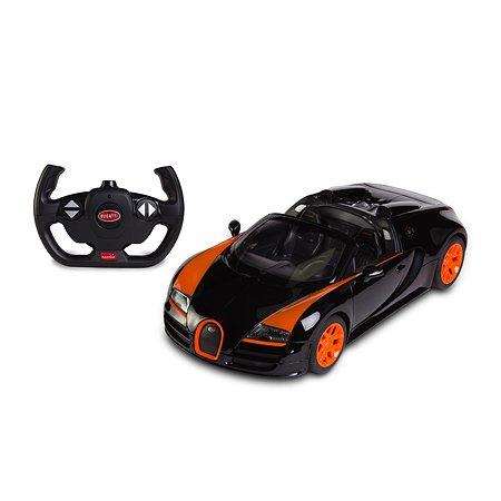 Машина радиоуправляемая Rastar 1:14 Bugatti Grand Sport Vitesse Черно-оранжевая