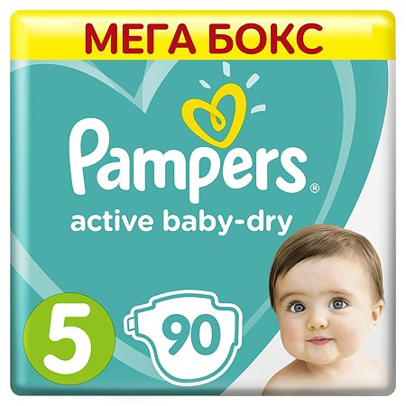 Подгузники Pampers Active Baby-Dry 5 11-16кг 90шт