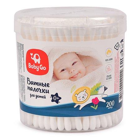 Палочки ватные Baby Go 200шт 9726