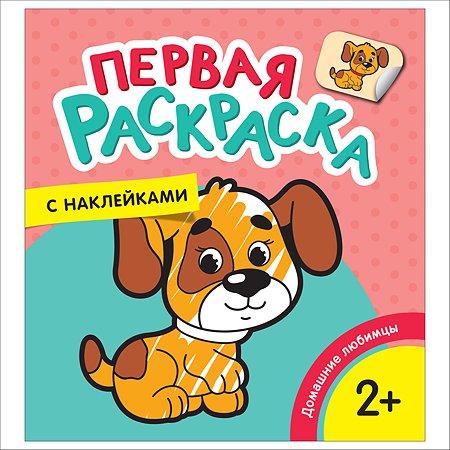 Раскраска Росмэн Домашние любимцы Первая раскраска с наклейками