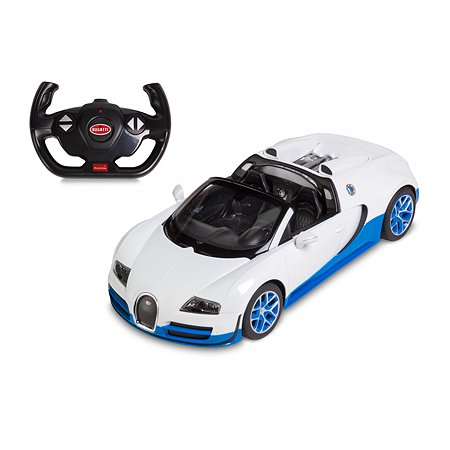 Машина радиоуправляемая Rastar 1:14 Bugatti Grand Sport Vitesse Бело-синяя