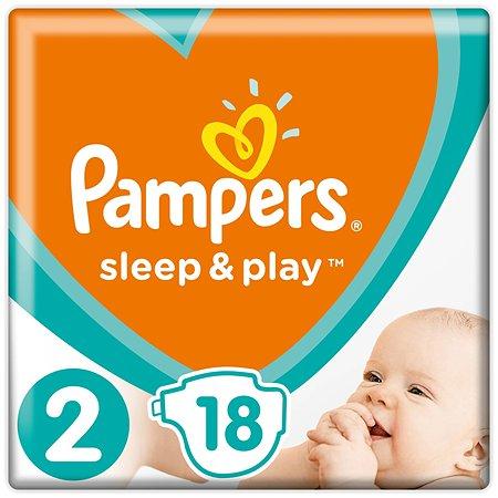 Подгузники Pampers Sleep and Play 2 4-8кг 18шт