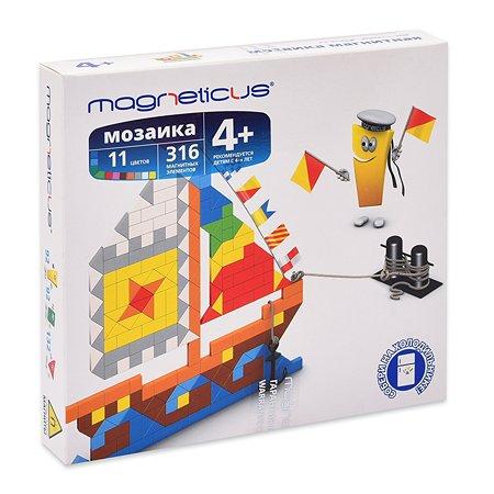 Мозаика магнитная MAGNETICUS Парусник 316 элементов 11 цветов MM-011