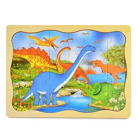 Пазл деревянный ABC Динозавры YJ2321702003