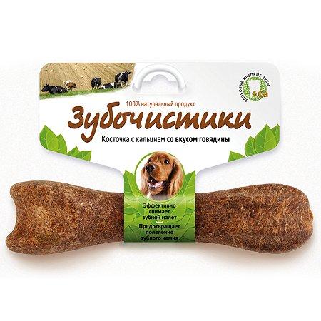 Лакомство для собак Зубочистики средних пород кальций говядина 95г