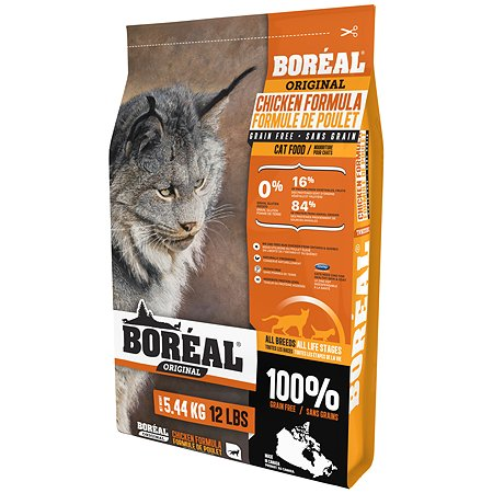 Корм для кошек Boreal Original с курицей 5.44кг