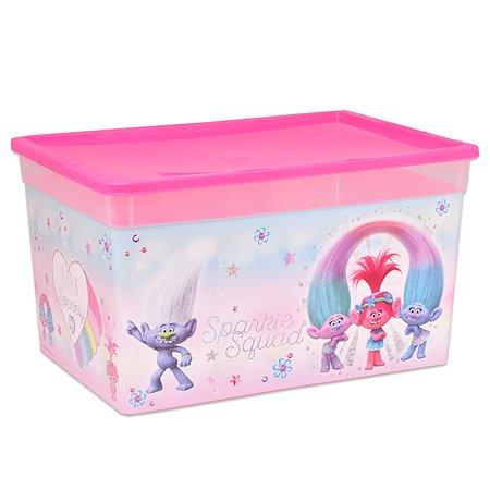 Коробка Полимербыт Trolls 16л Розовая 4371771
