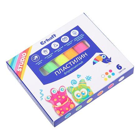 Пластилин Erhaft Studio флуоресцентный 6цветов 83811906