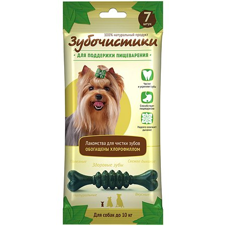 Лакомство для собак Зубочистики мелких пород мята 60г