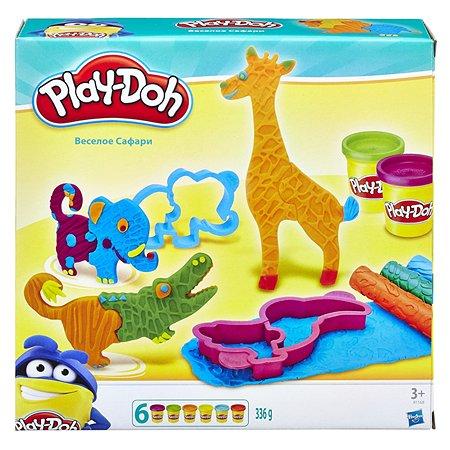 Набор пластилина Play-Doh Веселое сафари 6цветов B1168EU4