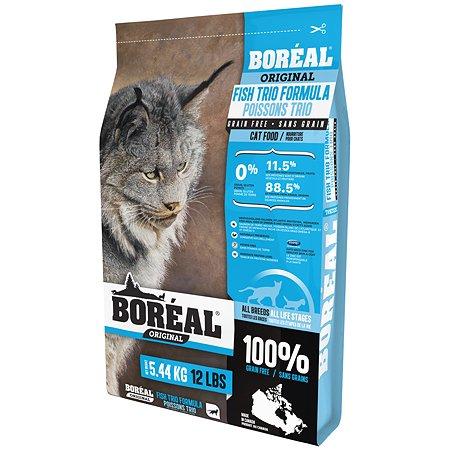 Корм для кошек Boreal Original с тремя видами рыбы 5.44кг