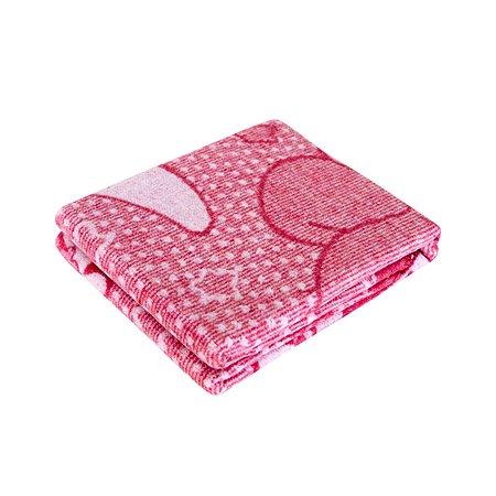Одеяло байковое Споки Ноки жаккард 100х118 розовое