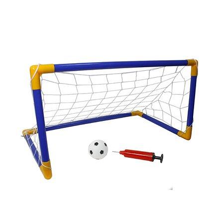 Набор 1TOY футбольные ворота мяч насос 107х78х71
