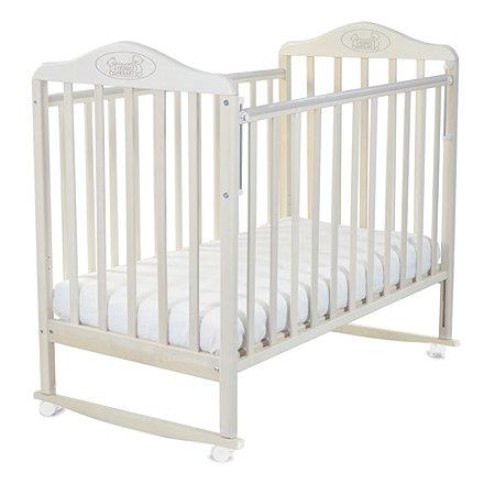 Кровать Наша Мама Джулия с колесами и качанием  цв.береза