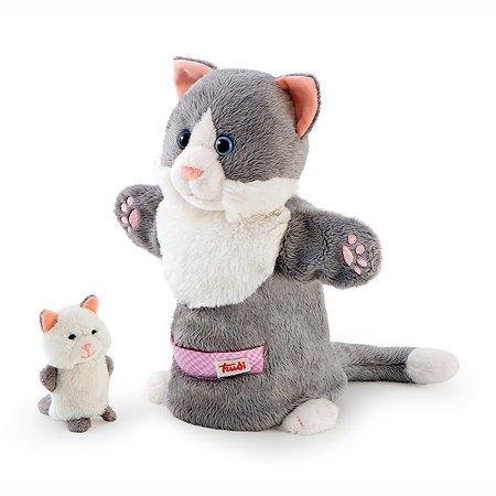 Мягкая игрушка на руку Trudi Кошка с котенком 28 см