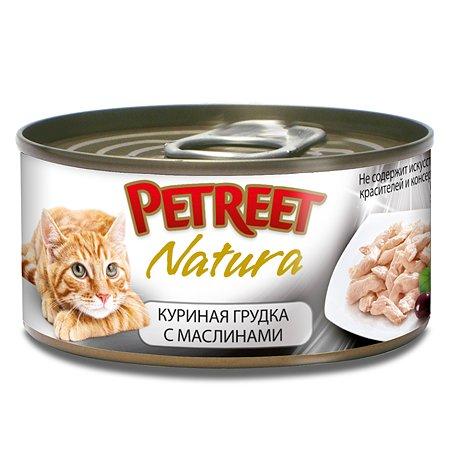 Корм влажный для кошек Petreet 70г куриная грудка с оливками консервированный