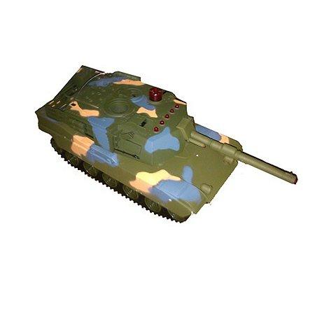 Танк р/у для танкового боя Global Bros бежевый со светом и звуком на аккумуляторах